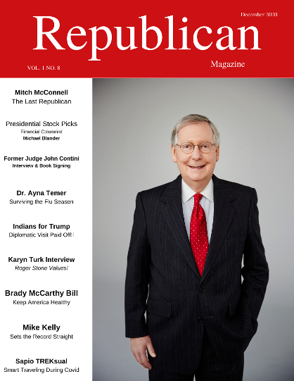 mitch mcconnell on the cover of Republican Magazine December 2020 issue