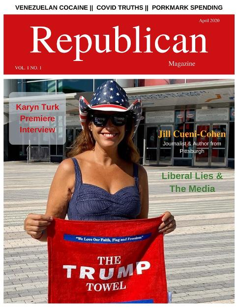 Republican Magazine Cover - April 2020 Issue with Jill Cueni-Cohen as the cover model