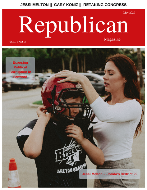 Republican Magazine May 2020 Cover - Jessi Melton runs for Congress in Florida's District 22